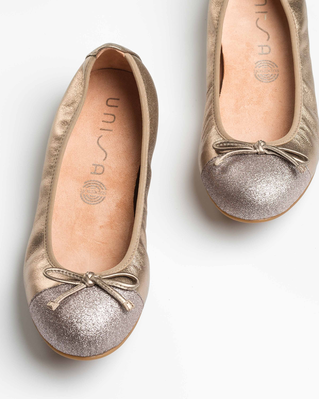 UNISA Kupferfarbene Ballerinas mit Kontrasten AUTO_20_LMT_SI mumm 5