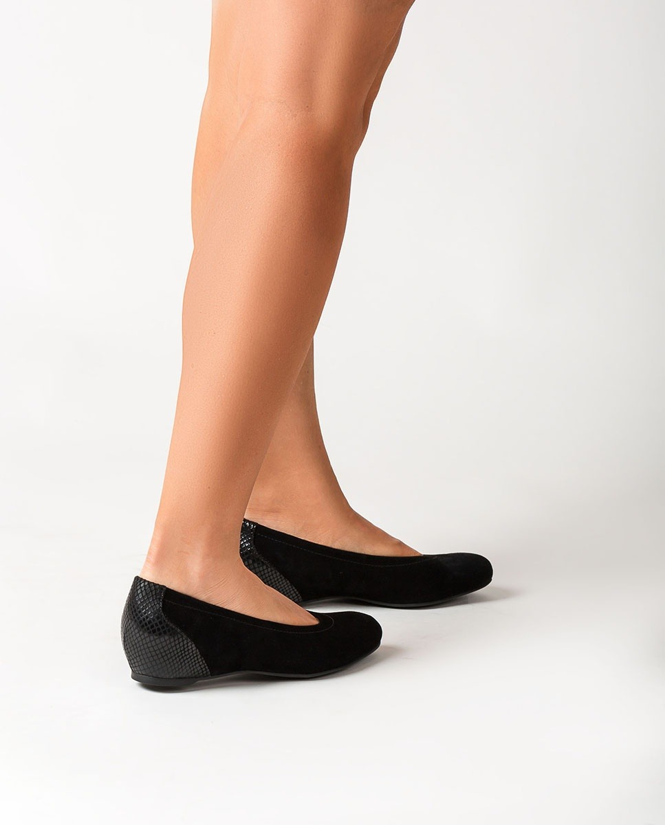 UNISA Ballerinas mit kontrastfarbiger Keilsohle CONESA_F20_KS_STPY black 5