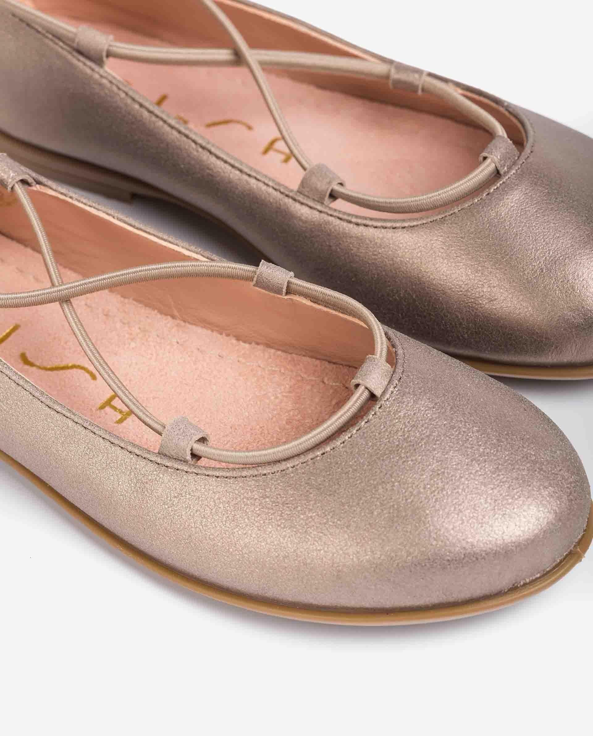 UNISA Ballerinas aus Metallic-Wildleder für Mädchen SEIMY_21_MTS 5