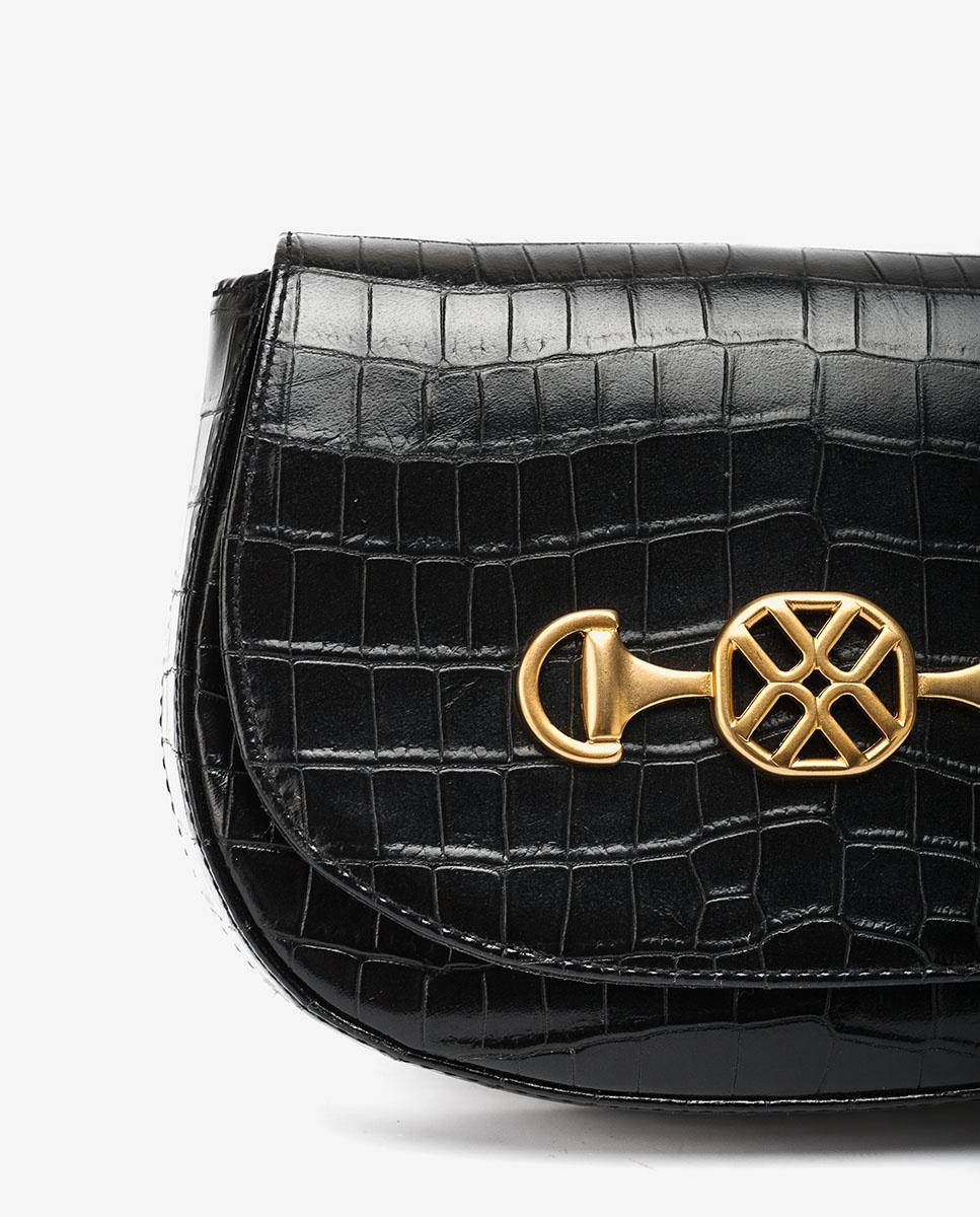 UNISA Handtasche in Kroko-Optik ZACOTA_LAU black 5
