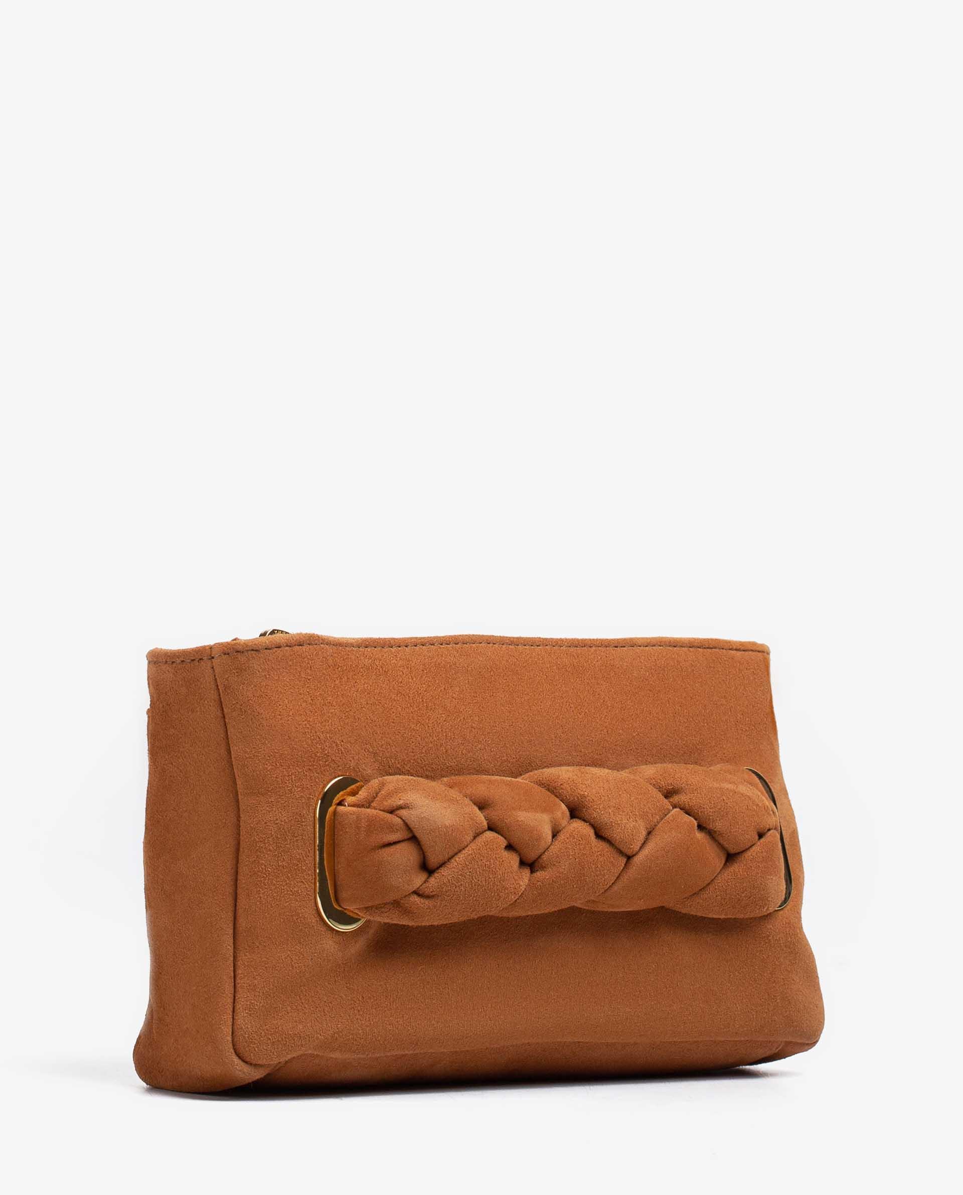UNISA Wildledertasche mit geflochtener Kordel ZFORIS_KS 5