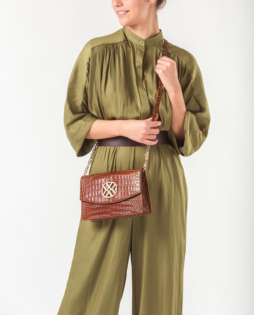 UNISA Handtasche mit Monogramm ZIGUAL_CRW saddle 5
