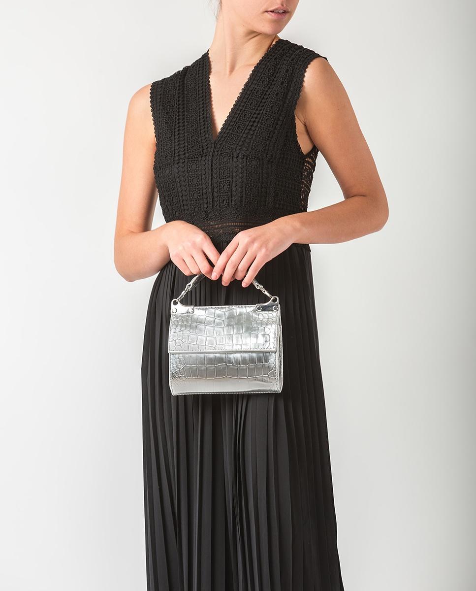 UNISA Silberne Handtasche ZAMAL_CP silver 5