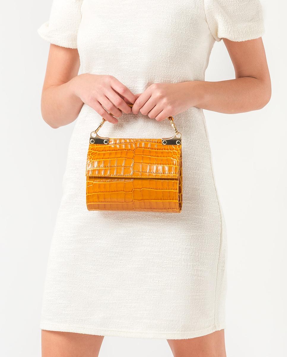 UNISA Handtasche in Kroko-Optik ZAMAL_CRW mustard 5