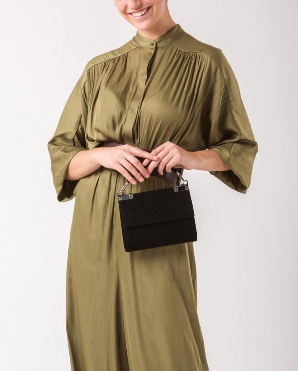 UNISA Wildleder-Handtasche mit Griff ZAMAL_KS black 5