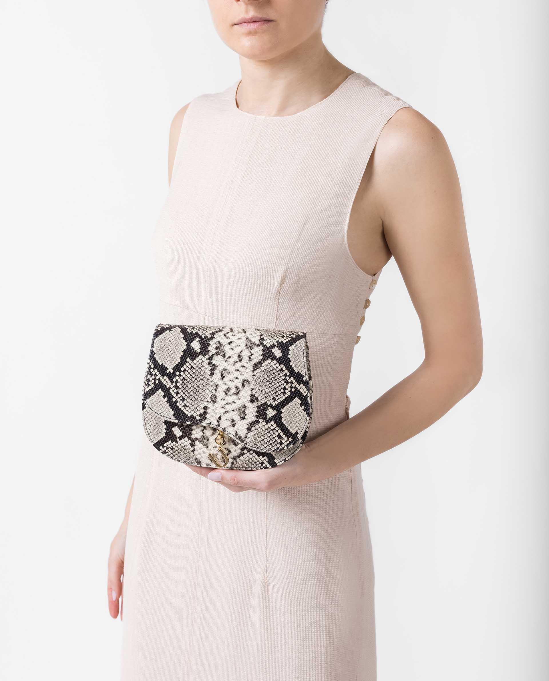 UNISA Lederhandtasche mit Snake-Print ZANIEL_VIP 5