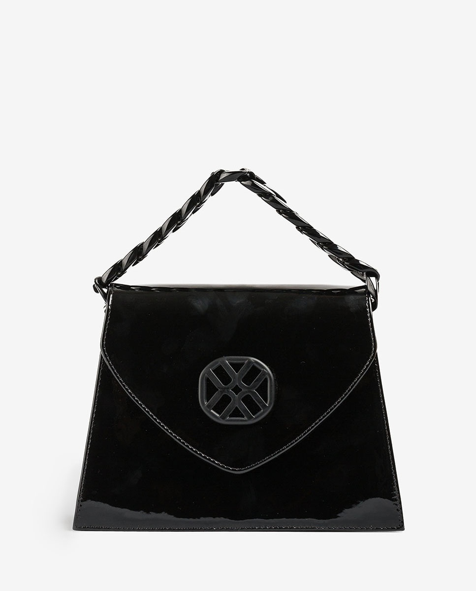 UNISA Lacklederhandtasche mit Monogramm ZCATA_PA black 5