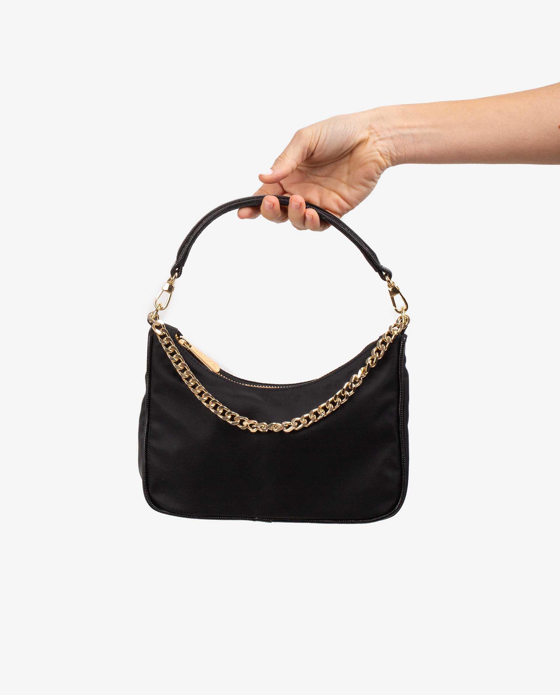 UNISA Tasche aus Materialmix, Nylon und Leder in Kroko-Optik ZCLIO_BUS_BTJ 5