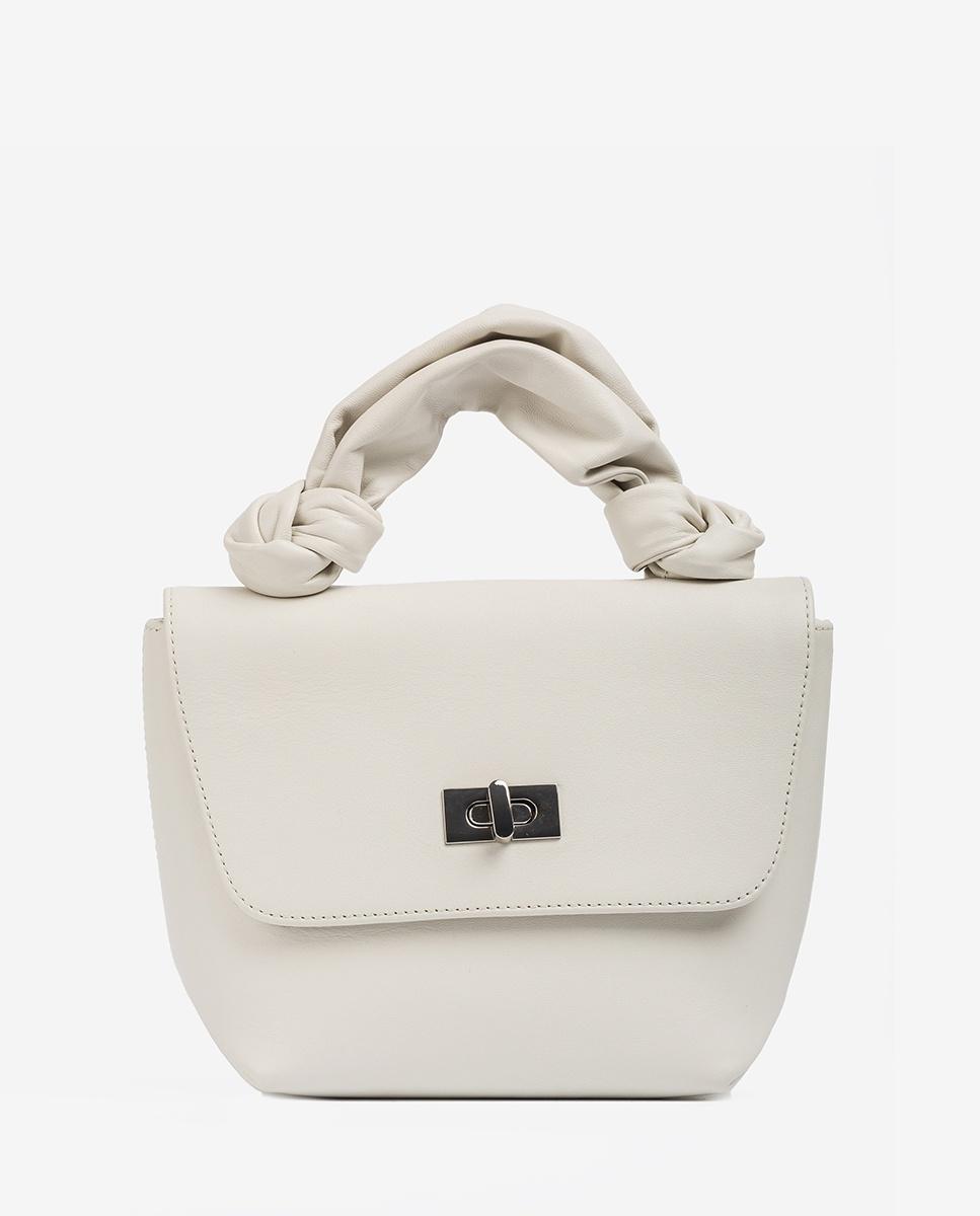 UNISA Handtasche mit Schlauch-Henkel ZFERON_NT ivory 5