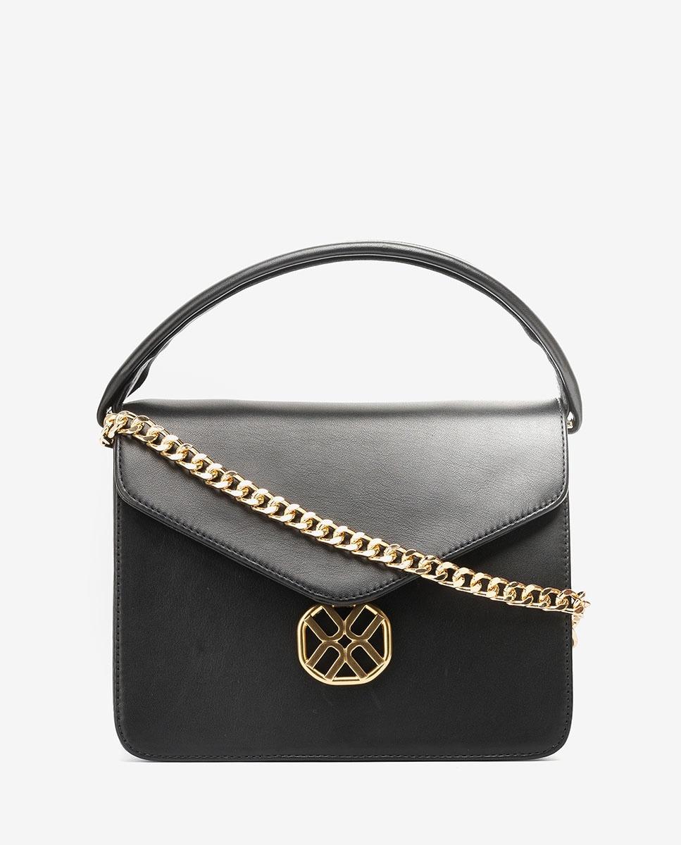 UNISA Tasche mit Monogramm-Verzierung ZFRAGO_NT black 5