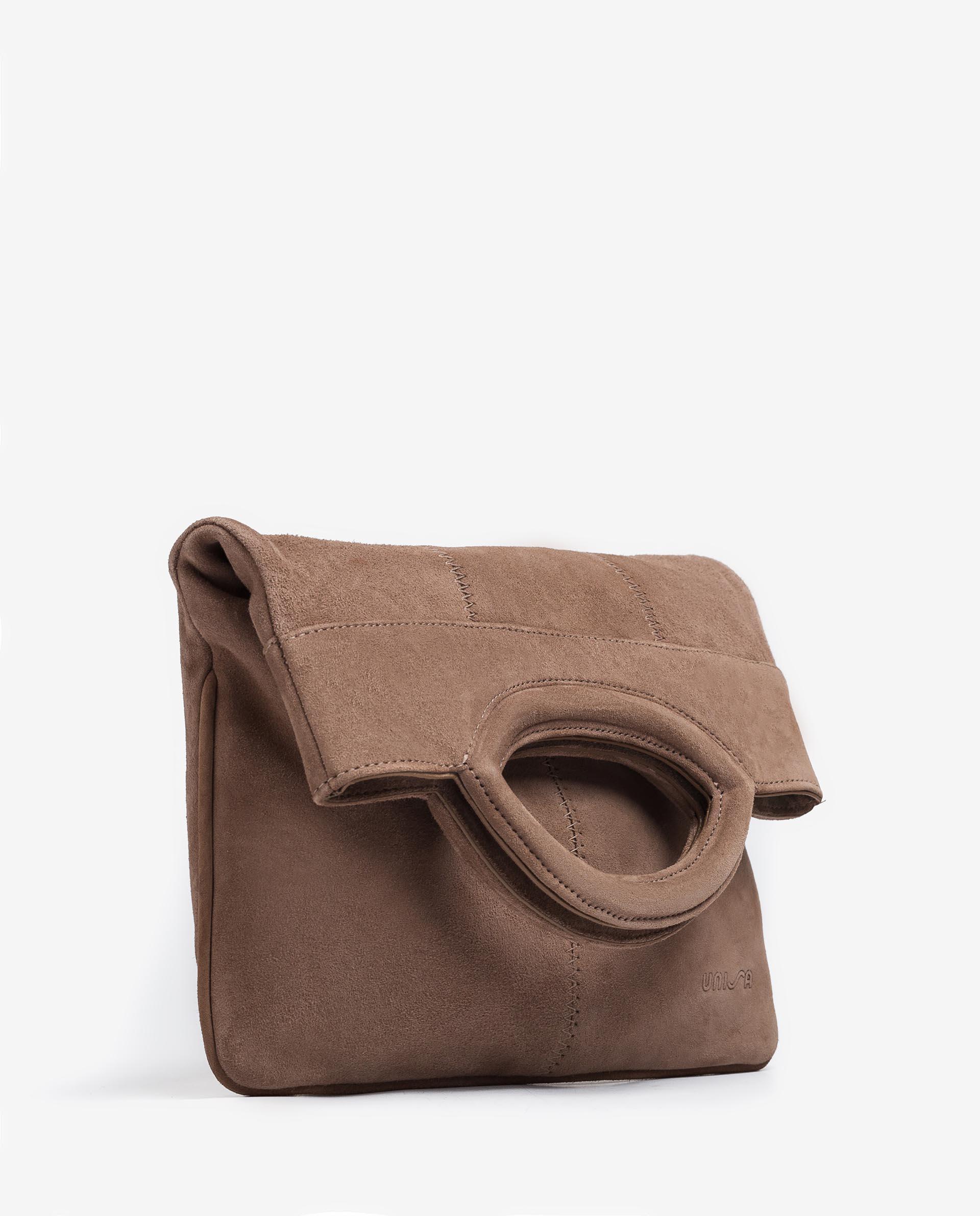 UNISA Wildledertasche mit doppeltem Umschlag ZGALATE_KS 5