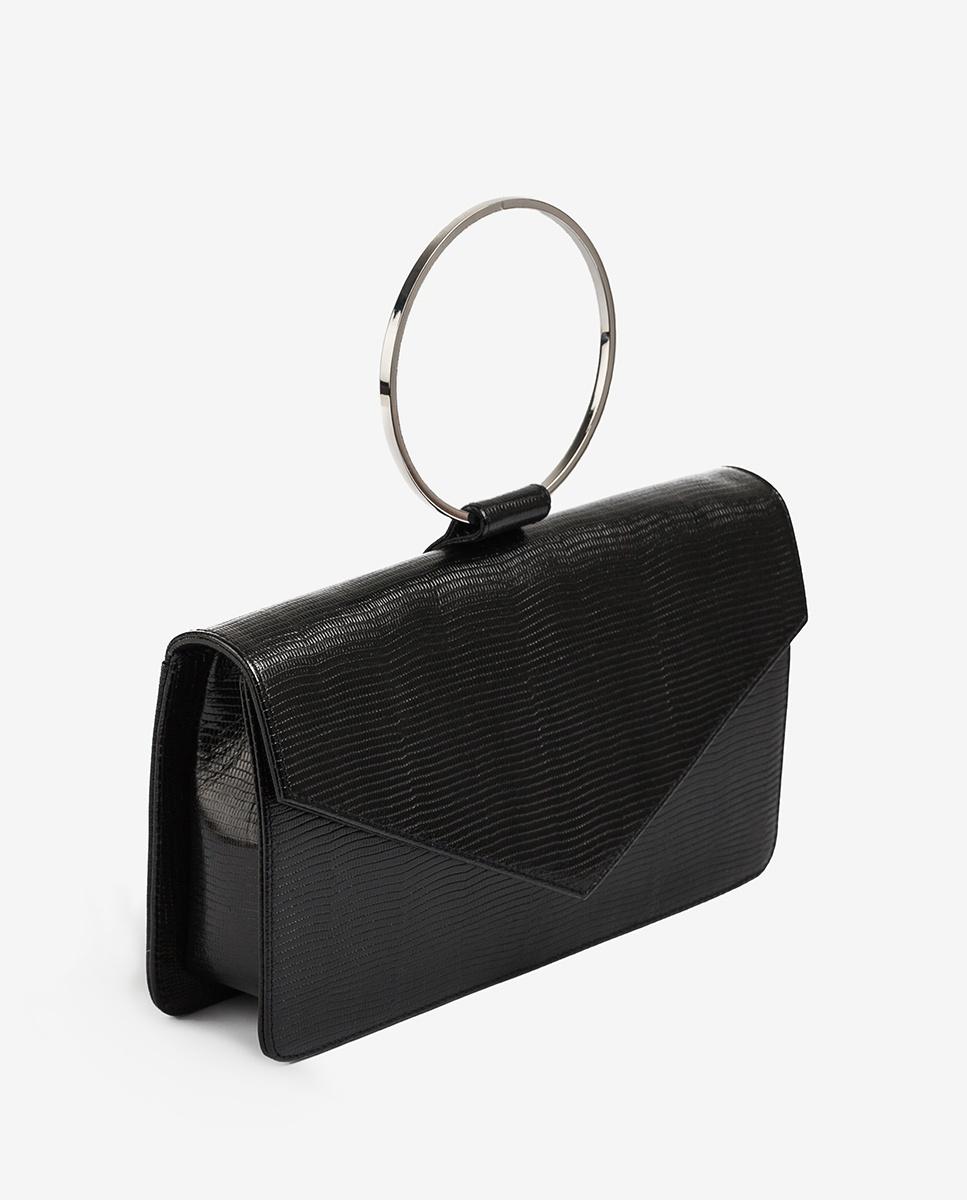 UNISA Handtasche mit Metallring ZGRANA_LI black 5