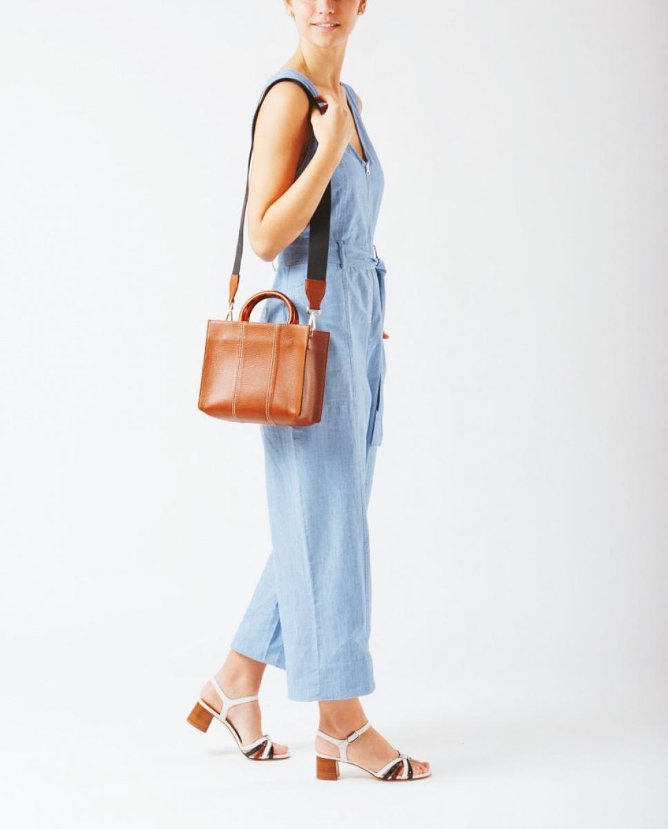 UNISA Rechteckige Handtasche ZKAISSY_MM saddle 5
