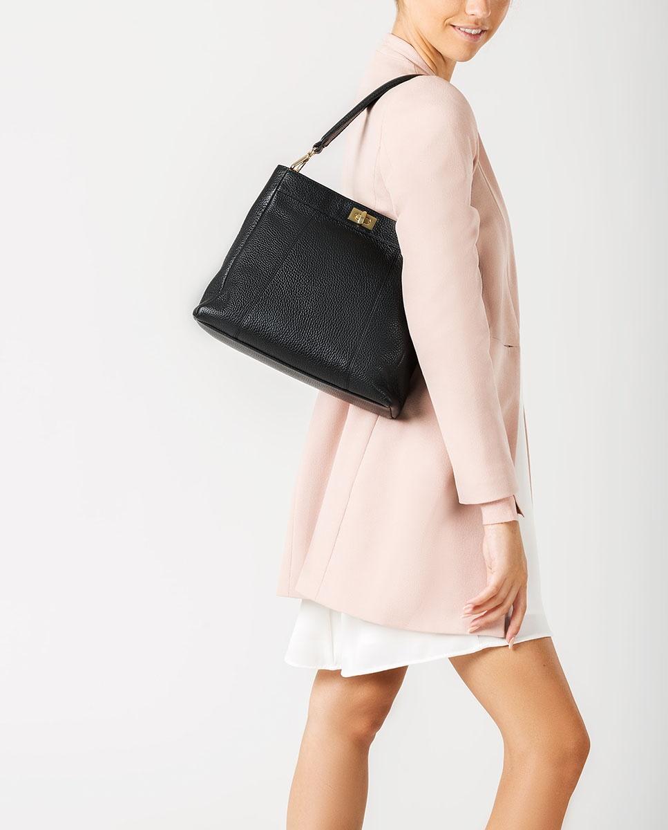 UNISA Lederhandtasche mit Henkel ZMOUSSI_MM black 5
