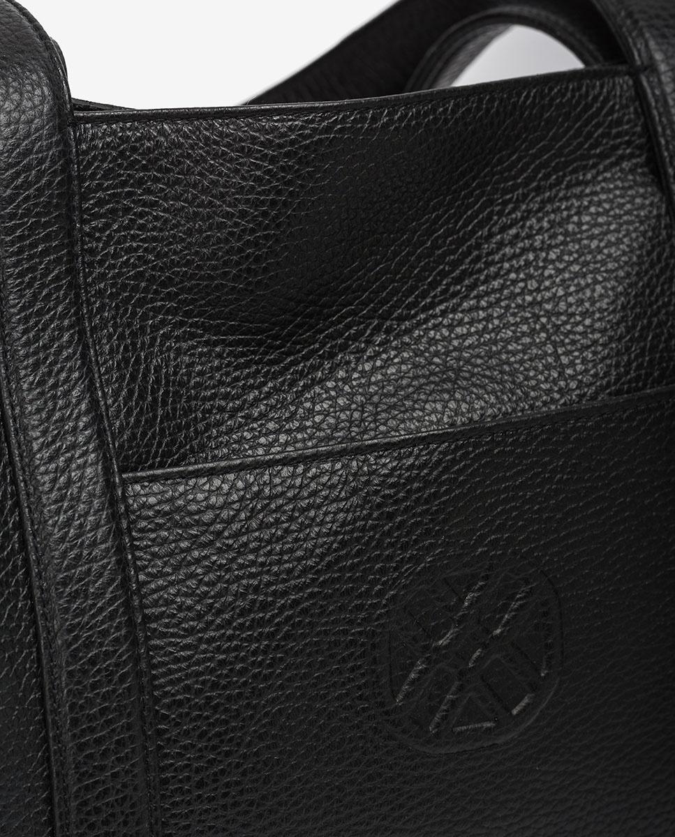 UNISA Shopper aus Leder ZNOLI_MM black 5