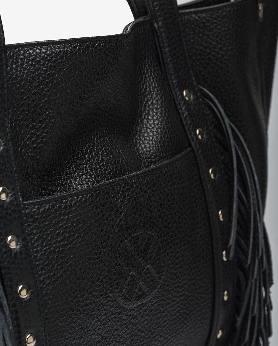 UNISA Shopper aus Leder mit Fransen ZNOLITA_MM black 5