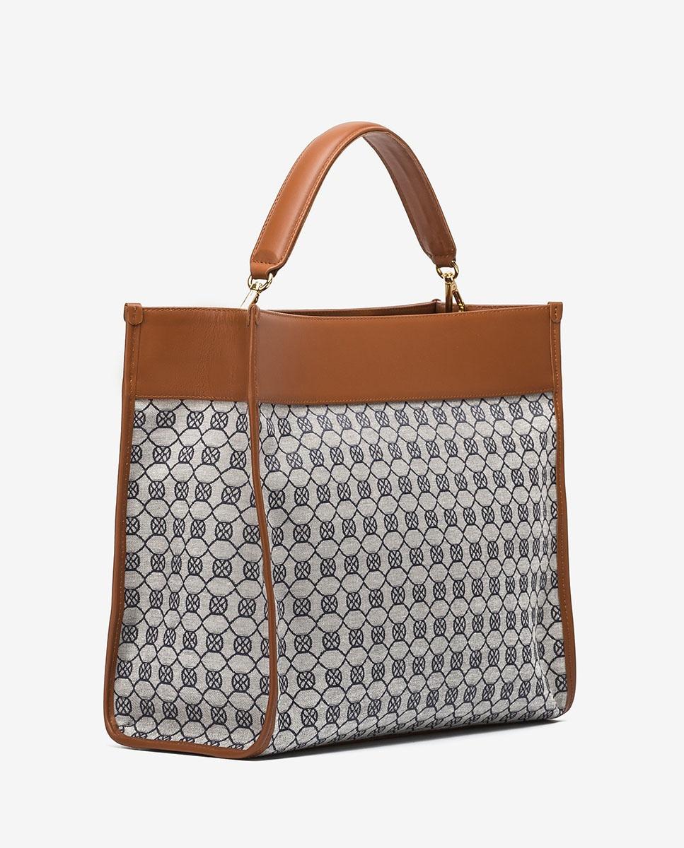 UNISA Quadratische Handtasche mit Monogramm-Verzierung ZROY_JAC abyss/crud 5