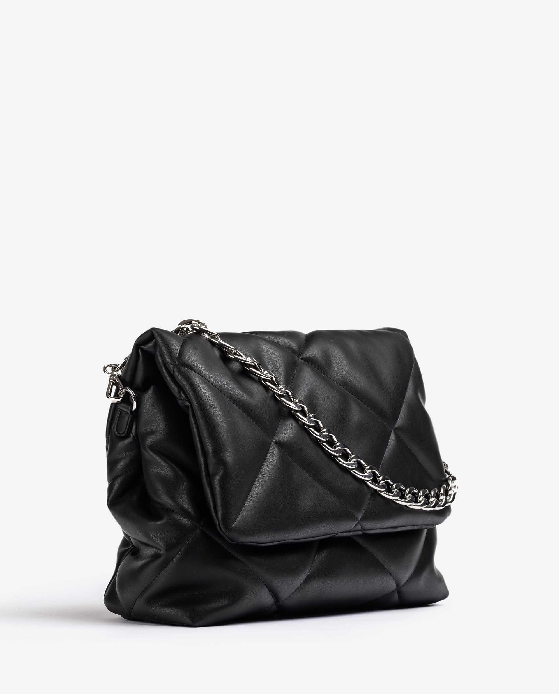 UNISA Große Tasche aus gepolstertem Leder im Schwarz ZKERINA_SUP 5