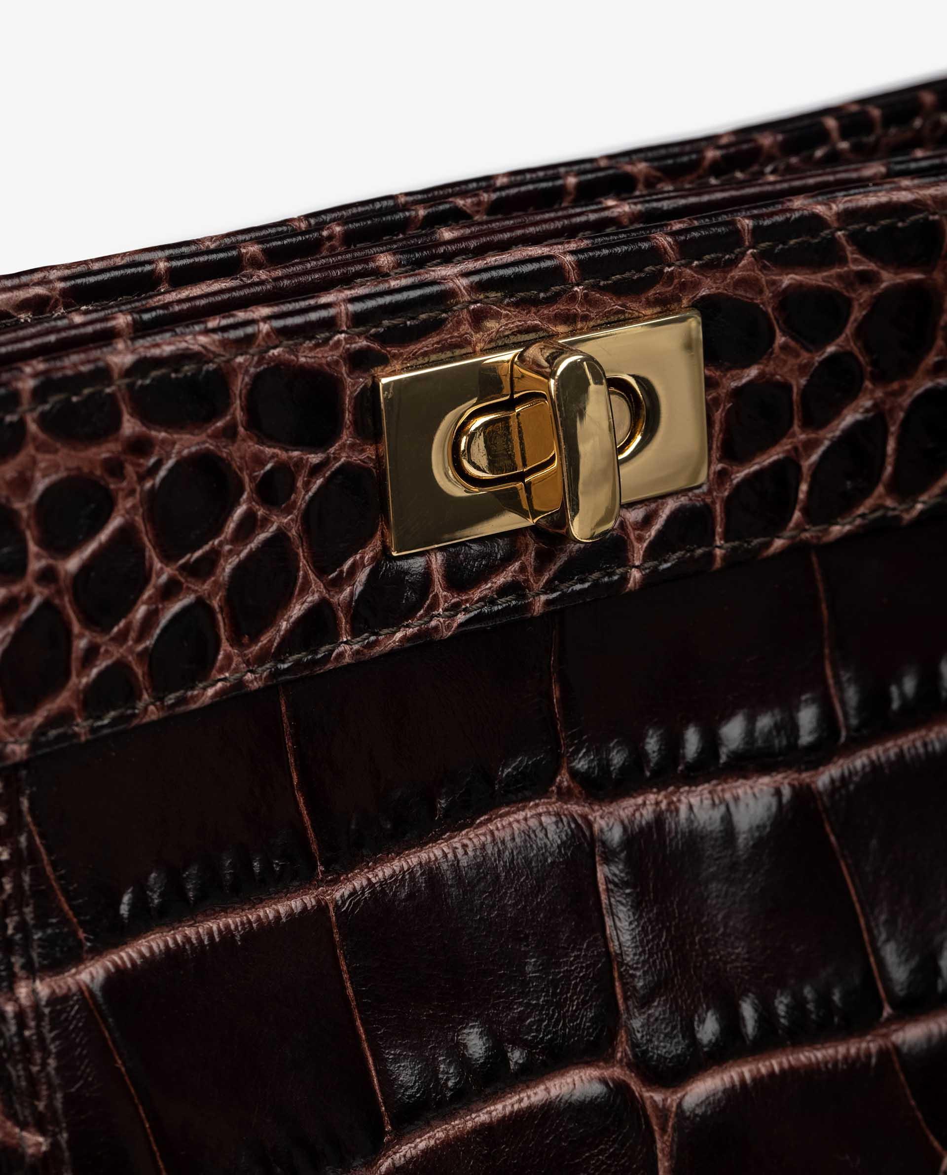 UNISA Mittelgroße Tasche aus geprägtem Leder mit Schnallenverschluss ZMOUSSI_F21_LAO 5