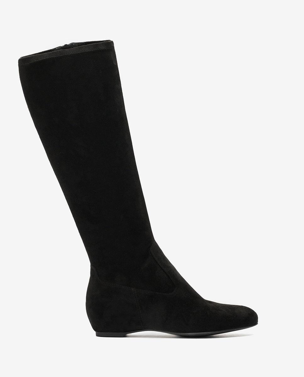 UNISA Schwarze Stiefel mit innenliegender Keilsohle CONTACT_ST black 5
