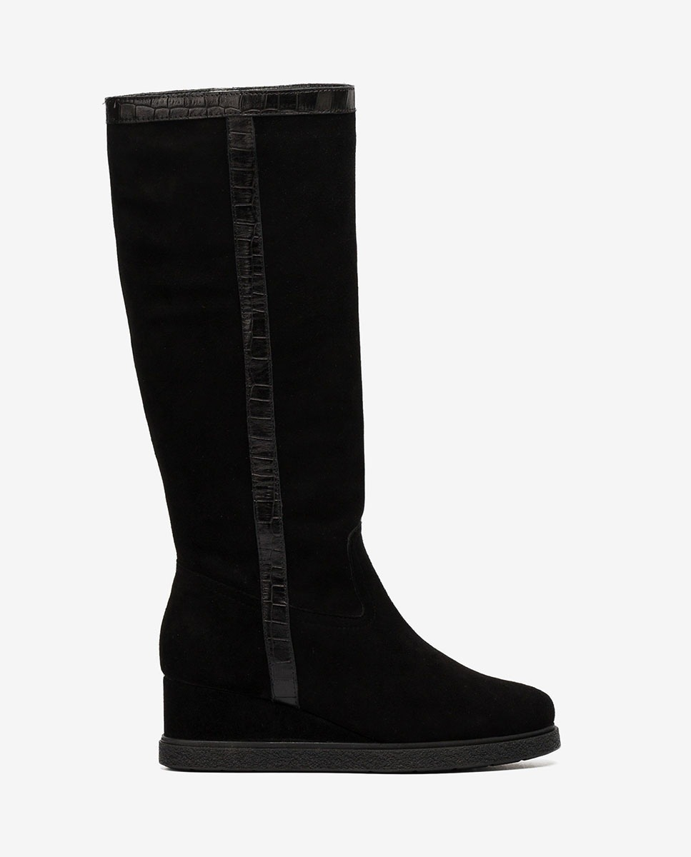 UNISA Gaucho-Stiefel mit Keilsohle JISCO_BS_MAL black 5