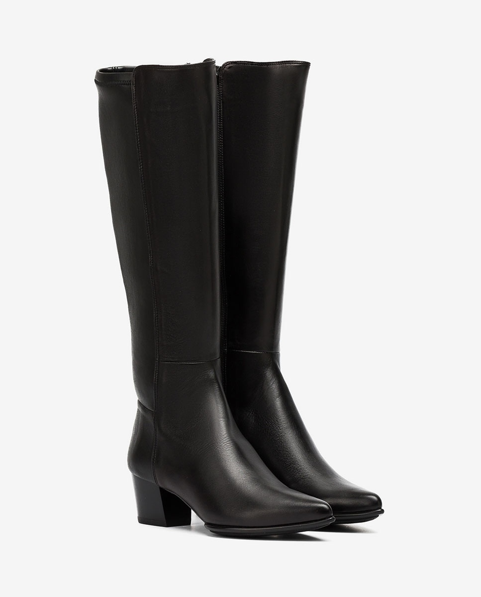 UNISA Schwarze spitze elastische Stiefel JOEL_F20_VU_STN black 5