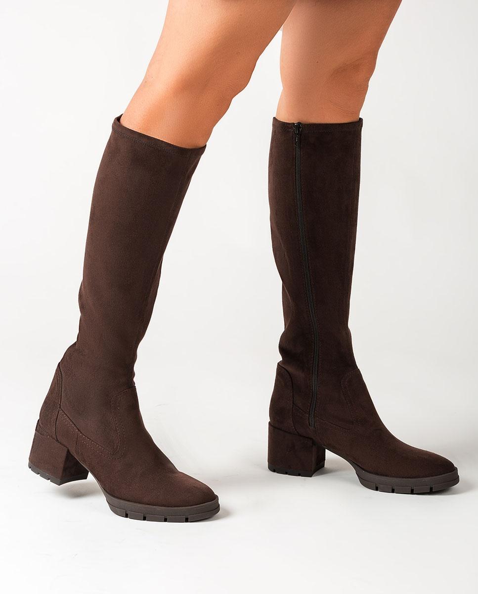 UNISA Braune elastische Stiefel JOSAN_ST truffle 5