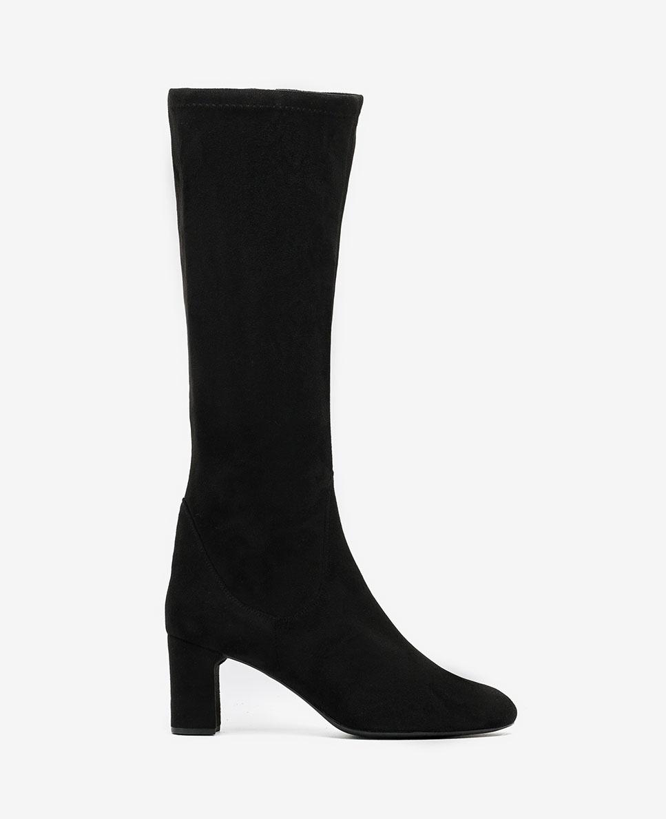 UNISA Schwarze elastische Stiefel mit Absatz MATOS_ST black 5
