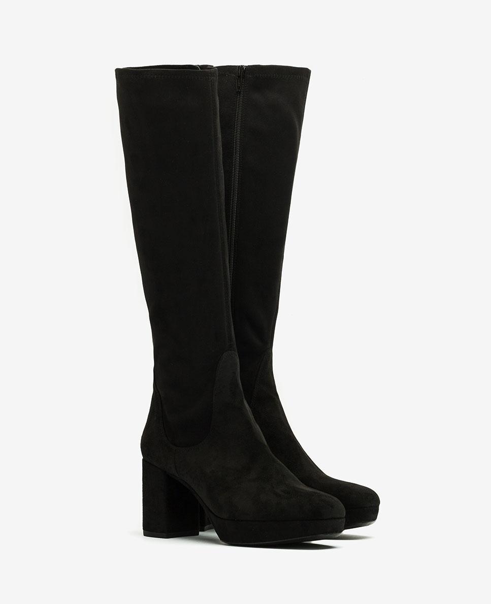 UNISA Elastische Stiefel im Stil der 70er MIND_ST black 5