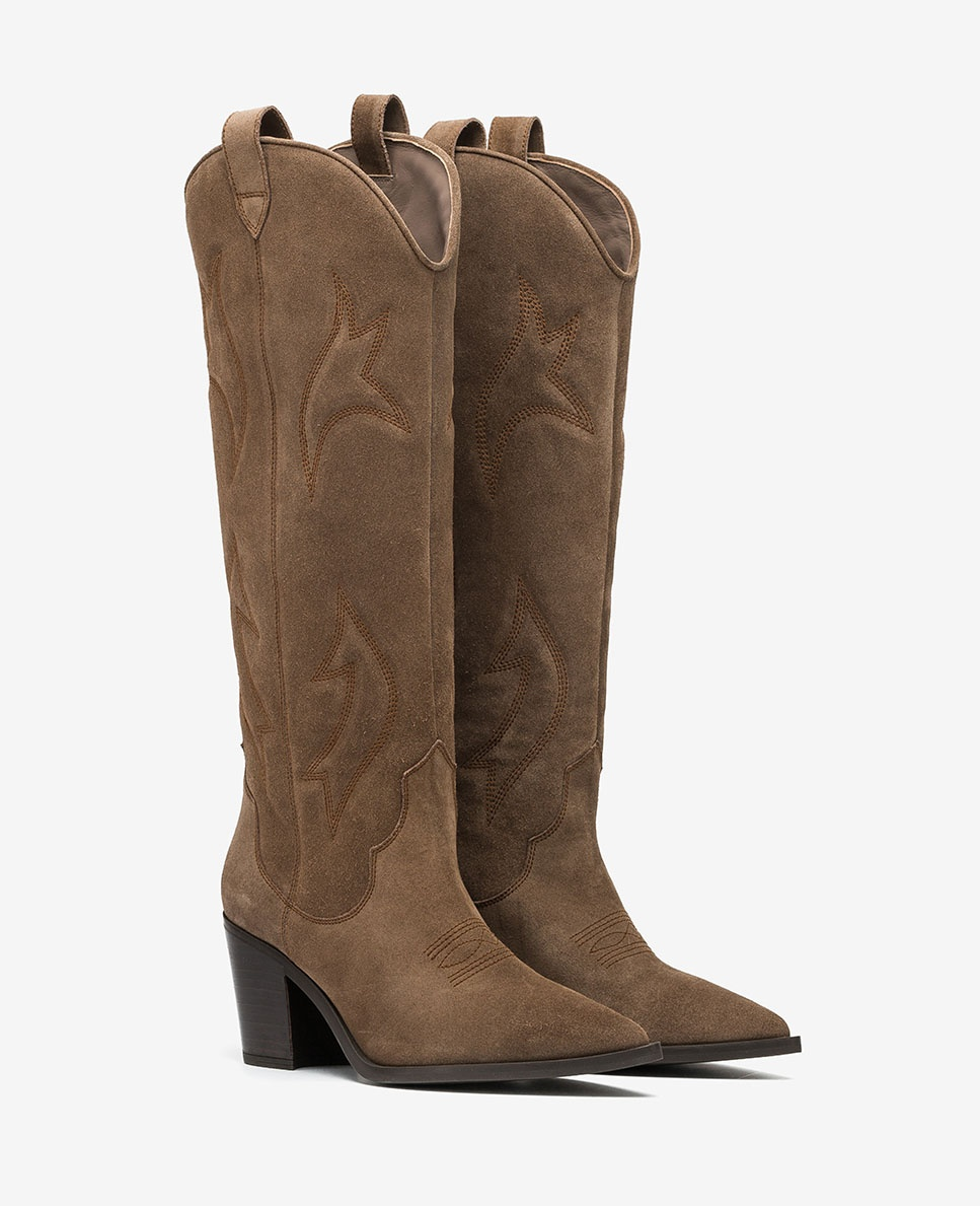 UNISA Bestickte Cowboystiefel MIRABEL_BS taupe 5