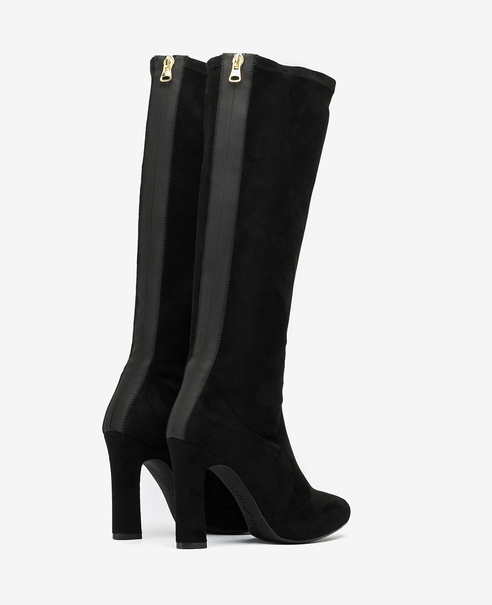 UNISA Schwarze elastische Stiefel mit Reißverschluss PORRES_ST black 5