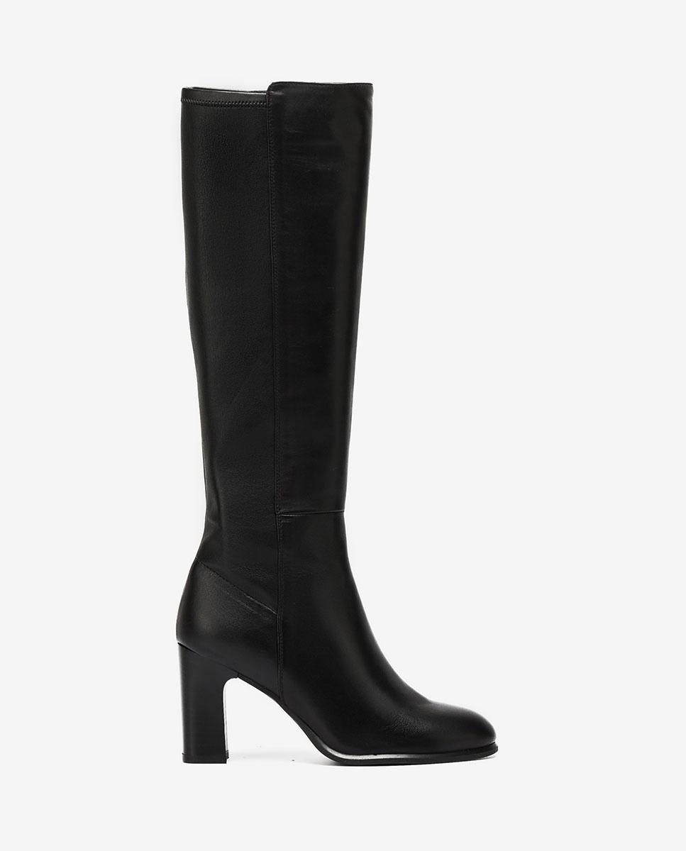 UNISA Stiefel mit Absatz und Kontrasteffekt UNITE_VU_STN black 5