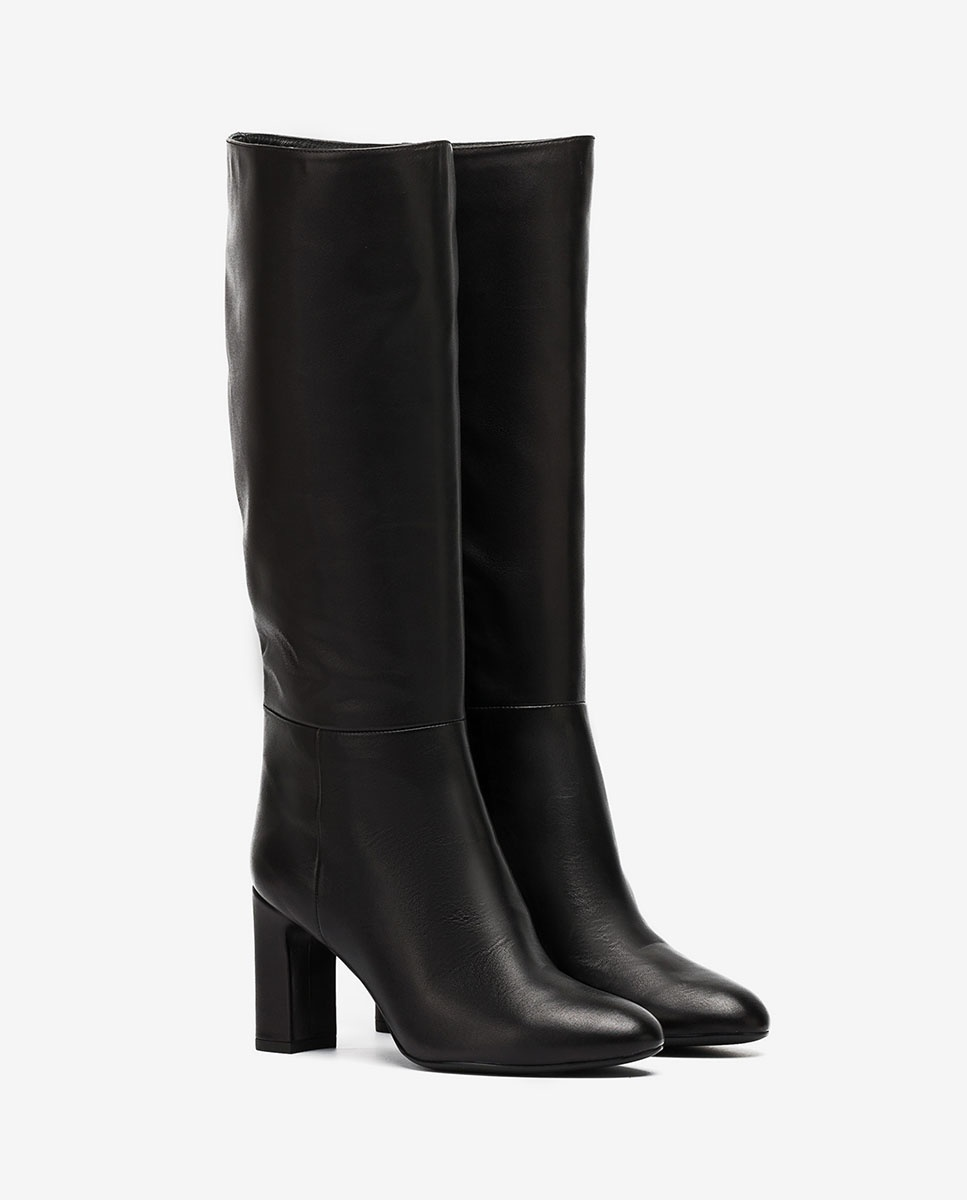 UNISA Schwarze Stiefel mit weitem Schaft USTED_VU black 5