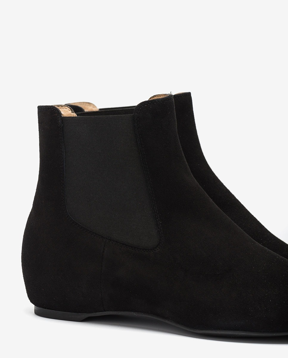 UNISA Schwarze Chelsea-Boots aus Wildleder CEROME_KS black 5
