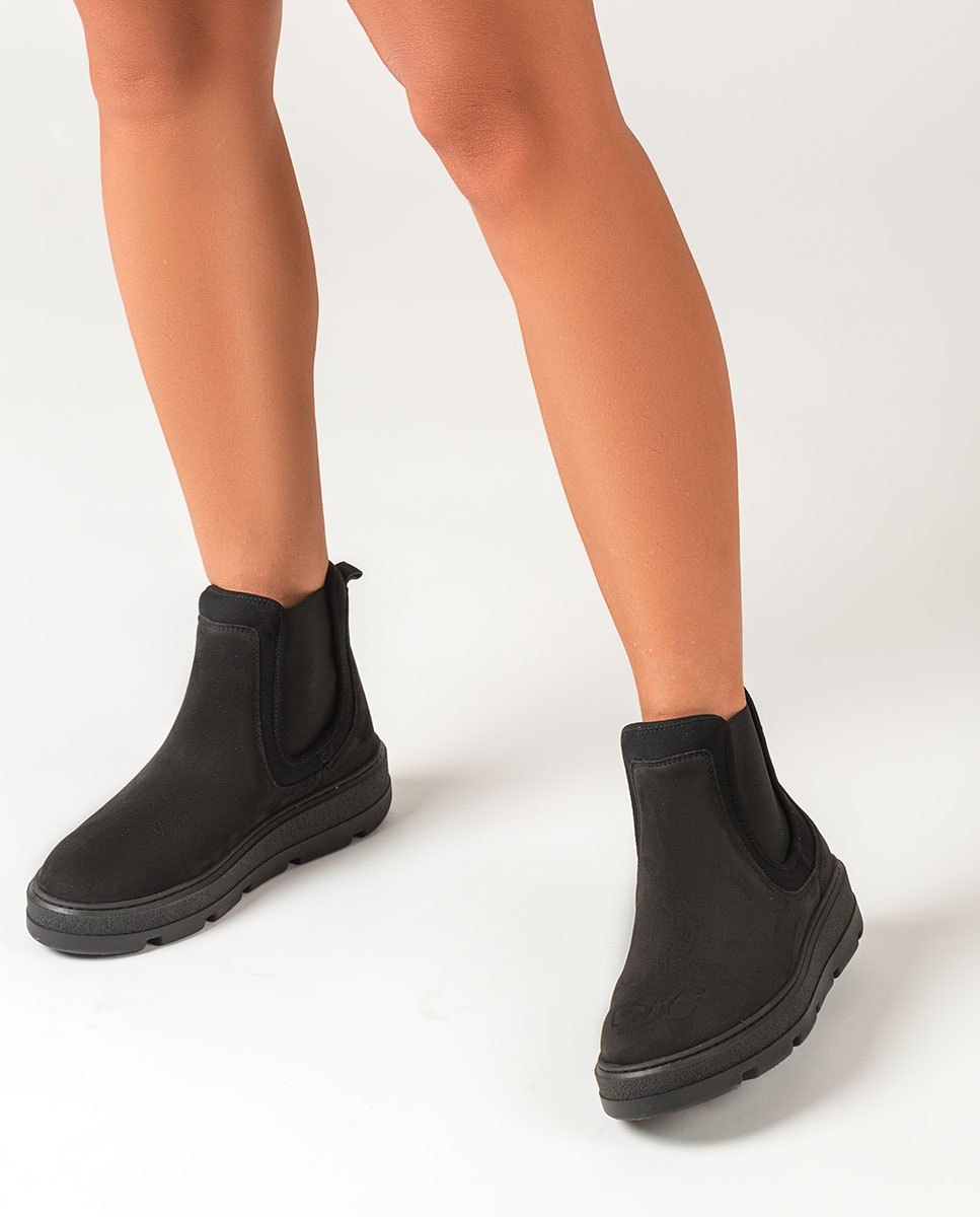 UNISA Schwarze Chelsea-Boots mit Kontrasten FLEET_BLU_SCU black 5