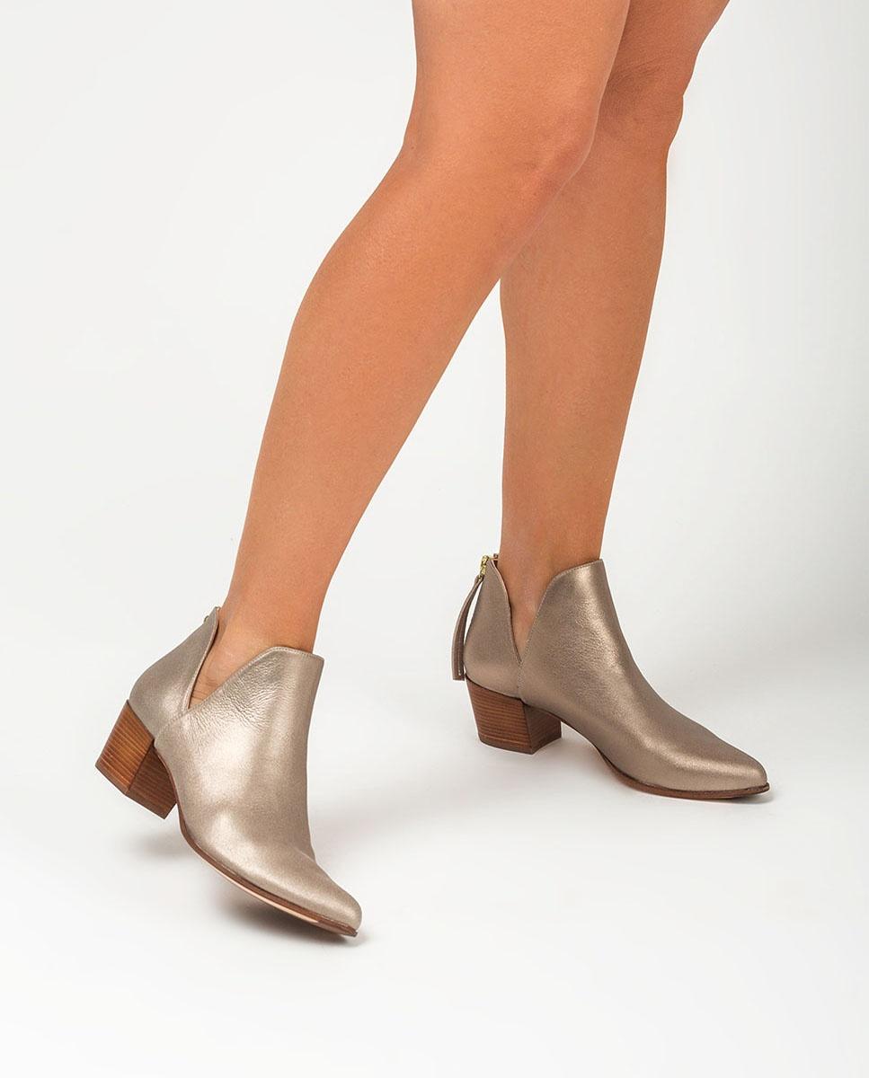 UNISA Ankle-Boots in Metallic-Optik mit seitlichem Ausschnitt GALEON_MTS mumm 5