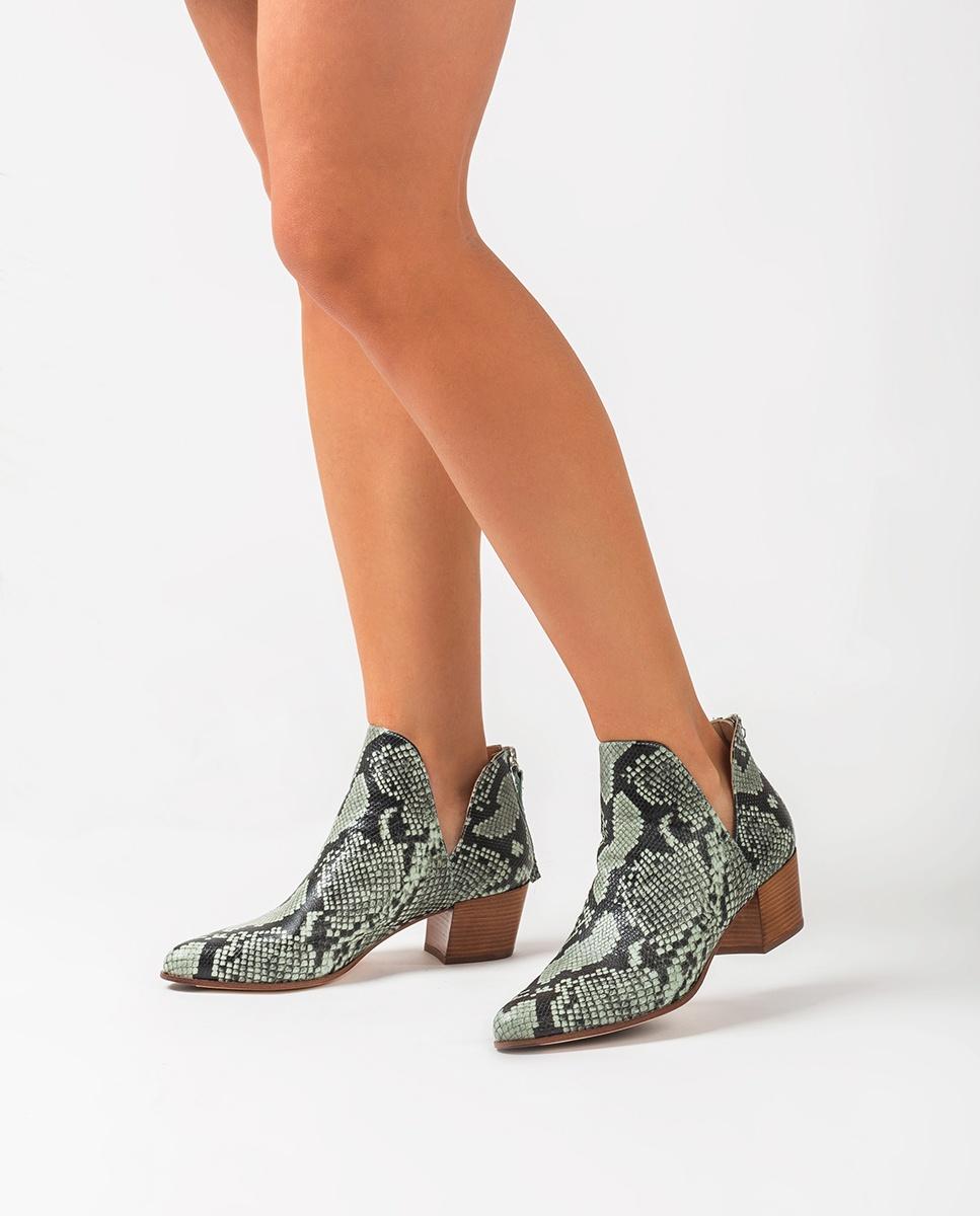 UNISA Ankle-Boots mit Snake-Print und seitlichen Ausschnitten GALEON_VIP mint 5