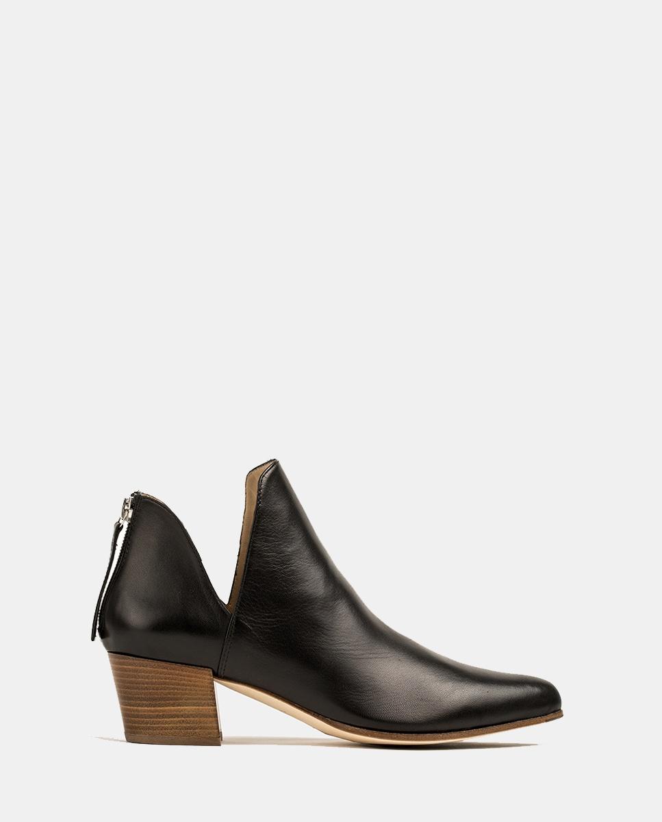 UNISA Ankle-Boots aus Leder mit seitlichen Ausschnitten GALEON_VU black 5
