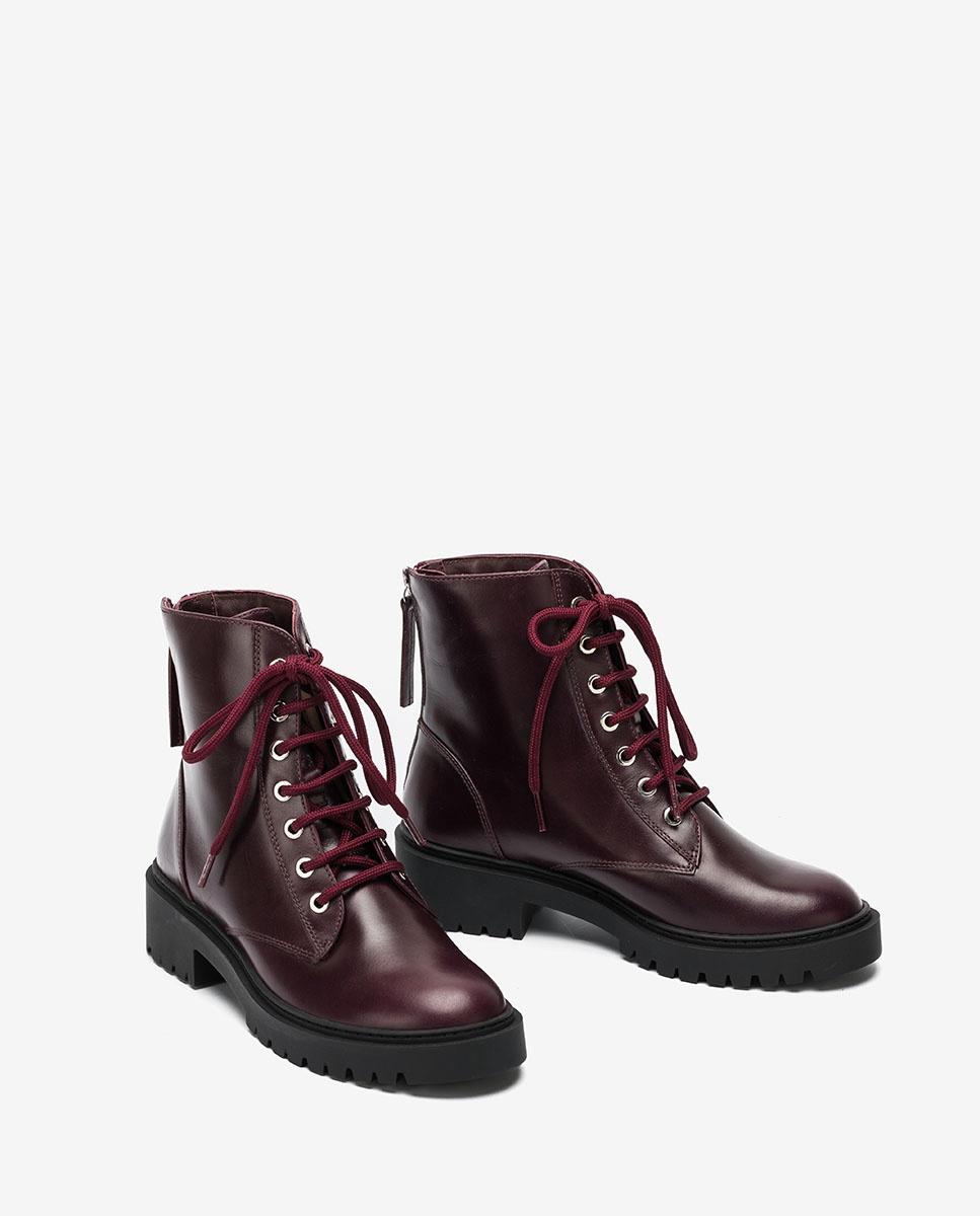 UNISA Bordeauxfarbene Military-Boots GISPER_NE grape 5