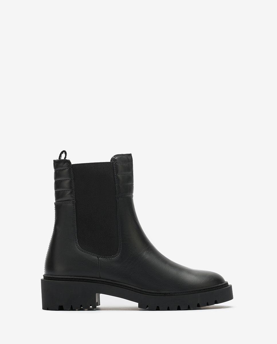 UNISA Schwarze Biker-Boots im Chelsea-Stil GREEK_NF black 5