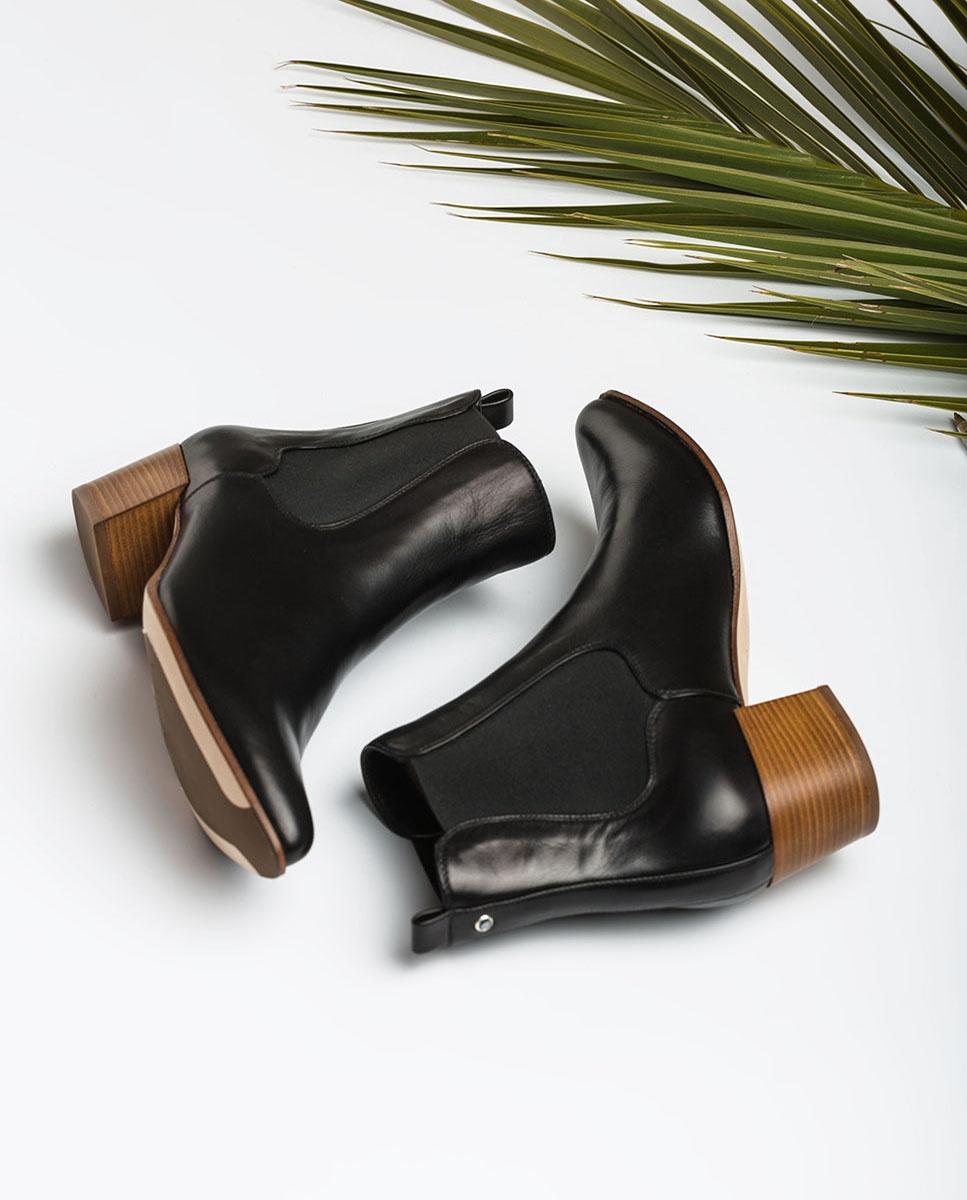 UNISA Cowboystiefeletten im Chelsea-Stil aus Leder GREYSON_20_VU black 5