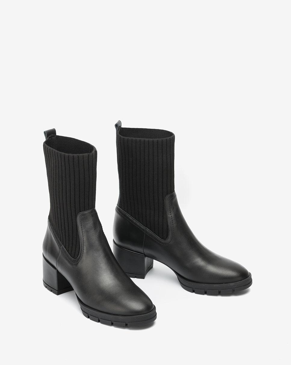 UNISA Schwarze Sock-Boots JESE_NF black 5