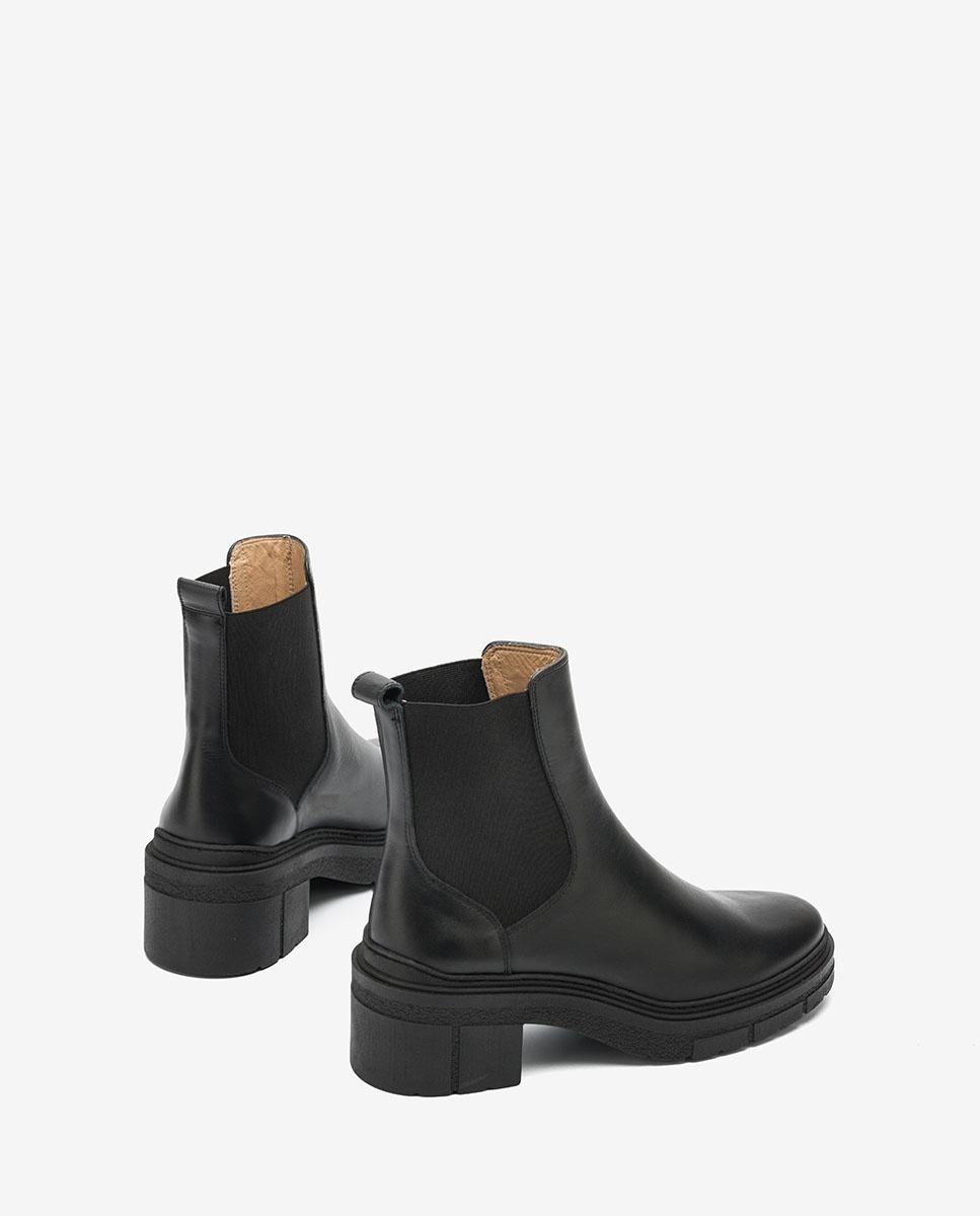 UNISA Schwarze Chelsea-Boots mit Trekkingsohle JIMENEZ_NF black 5