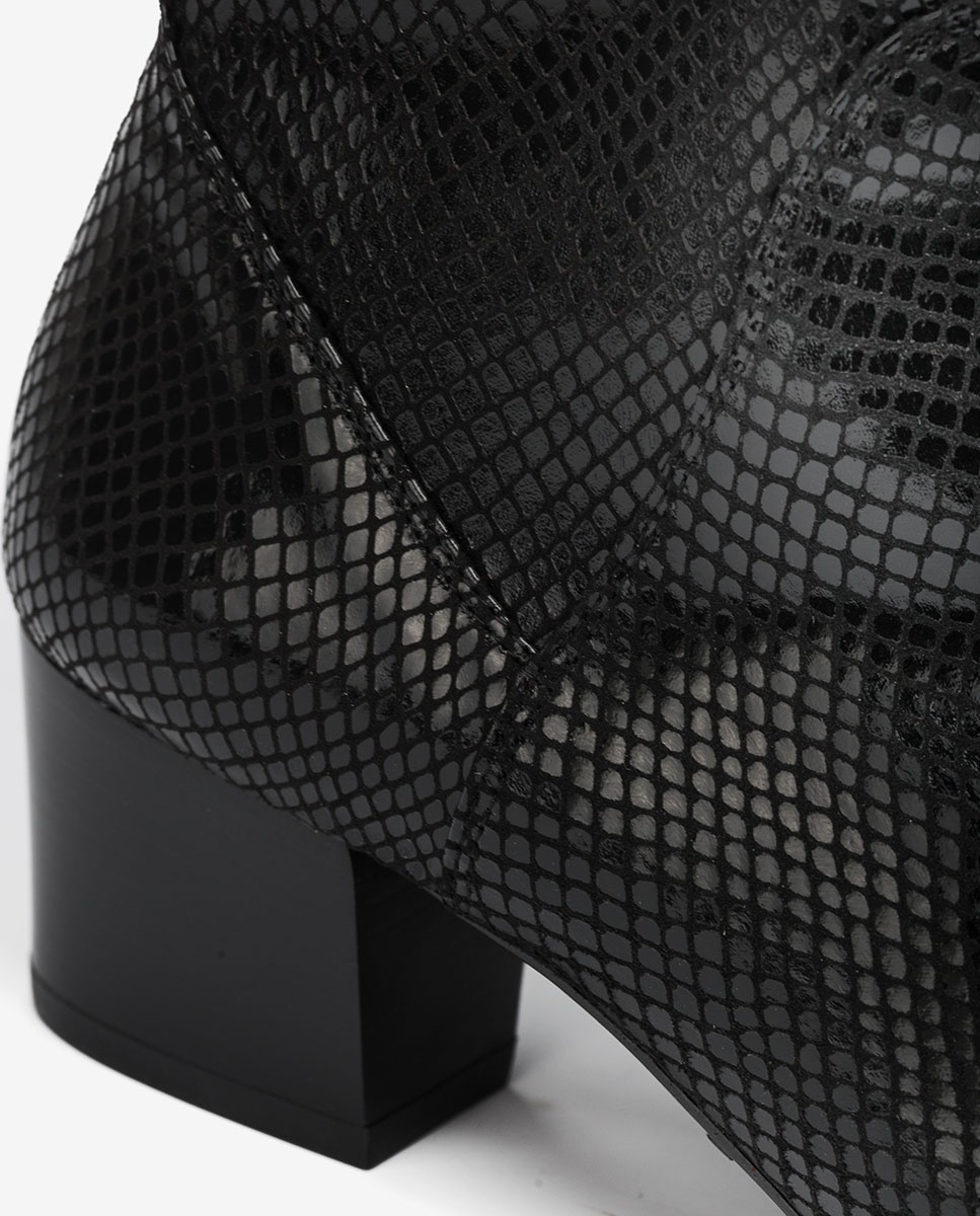 UNISA Elastik-Stiefeletten mit Snake-Print JUANDE_STPY black 5
