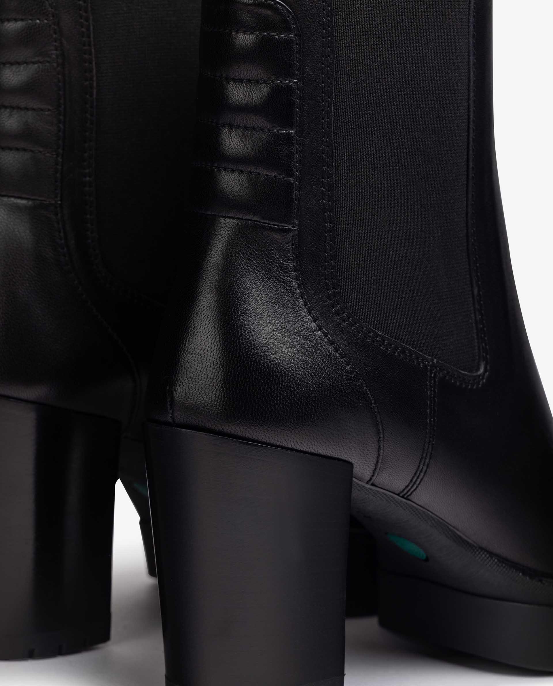 UNISA Chelsea-Boots aus Leder mit Absatz KUBEL_F21_VU 5
