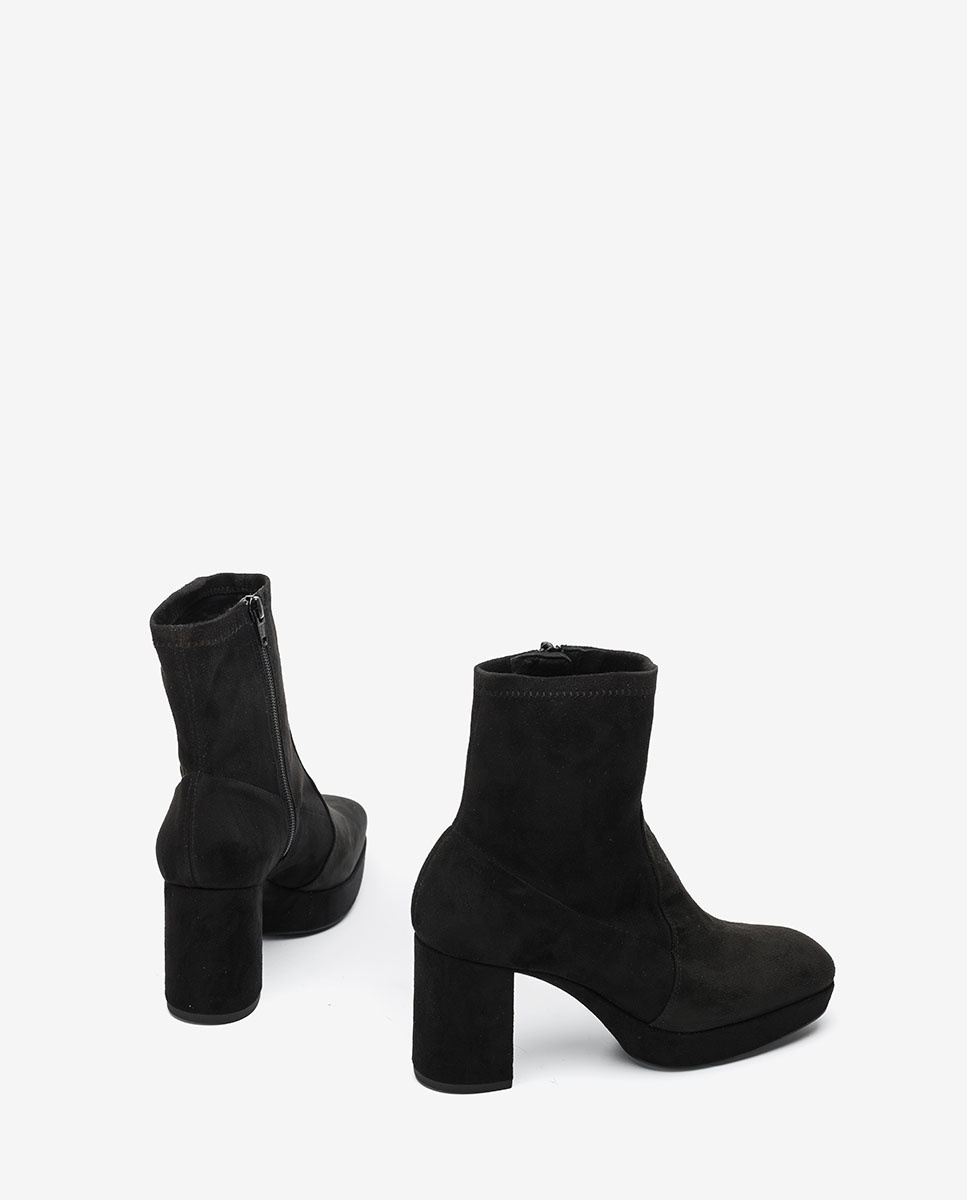UNISA Elastische Stiefeletten im Stil der 70er MAHALI_STL black 5