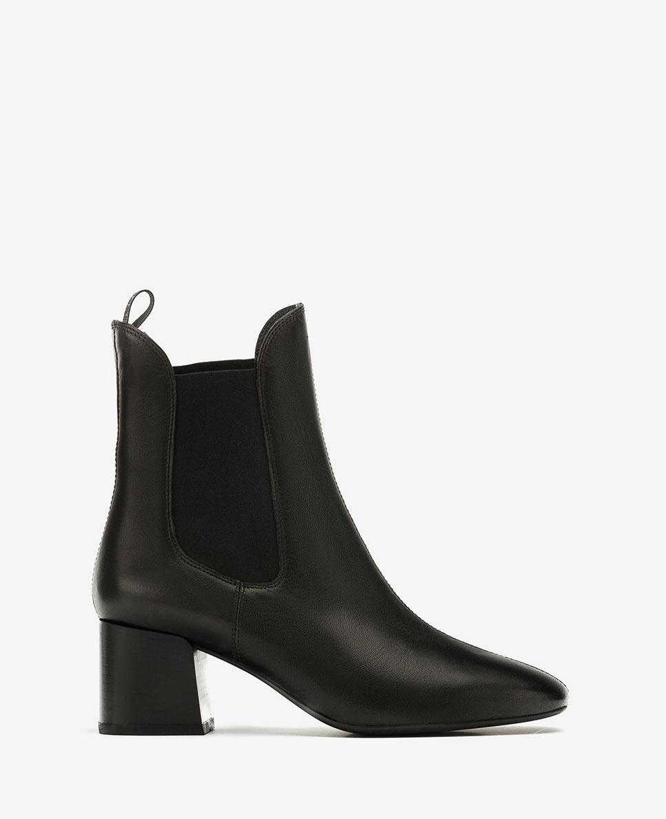 UNISA Schwarze Chelsea-Boots aus Leder MANTE_VU black 5