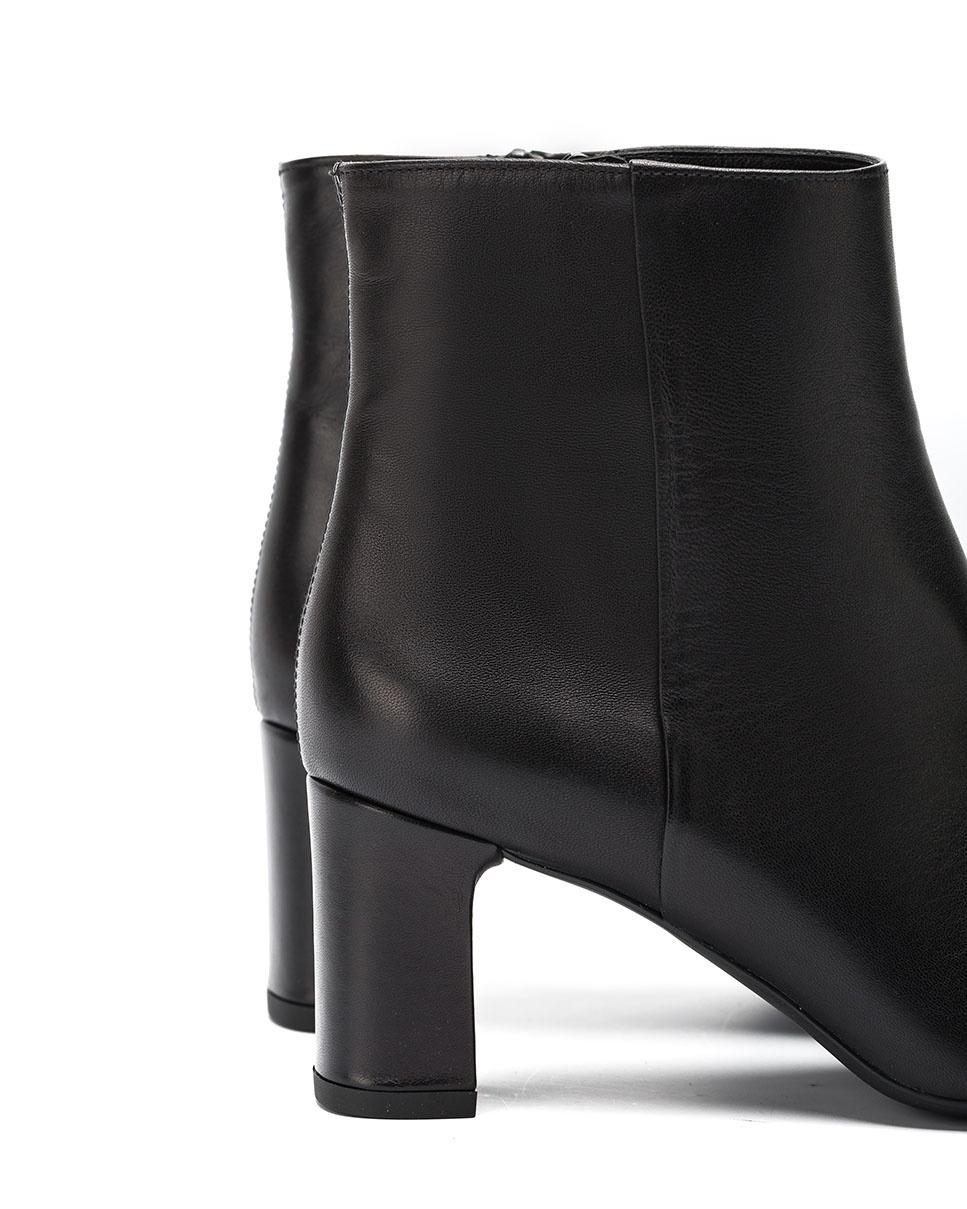 UNISA Schwarze Lederstiefeletten mit Absatz MARLIN_VU black 5