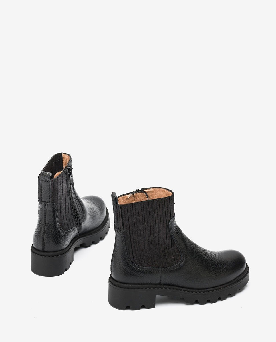 UNISA Schwarzer Stiefel mit elastischem Schaft für Mädchen PINEDA_F20_MM black 5
