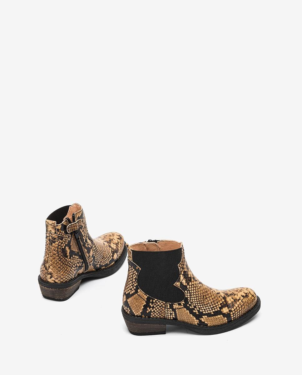 UNISA Snake-Print Cowboystiefel für Mädchen WAFI_F20_VP ginger 5